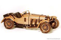 Mercedes Benz Sskl 1931 Replica Wooden Toys Plans Wooden Car Wooden Toy Cars