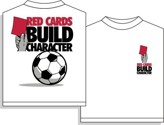 Utopia red cards short sleeve soccer t shirt girls for Soccer girl problems t shirts
