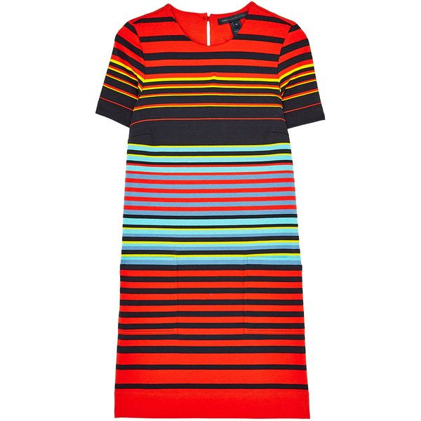 Marc by Marc Jacobs Paradise Stripe Jersey Dress ($216) ❤ liked on Polyvore featuring dresses, marc by marc jacobs, striped dress, stripe dress, stripe jersey dress and marc by marc jacobs dress