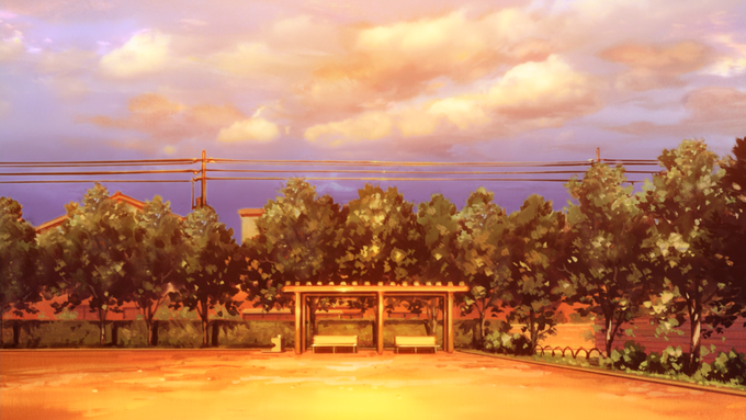 Kyoto Animation Background Art Clannad Kyoto animation
