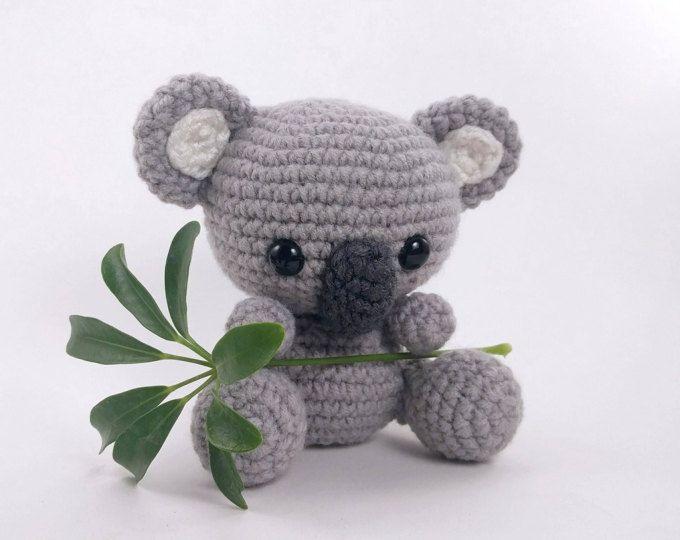 Free Amigurumi Koala Pattern : Easy crochet toy pattern for amigurumi koala bear stuffed