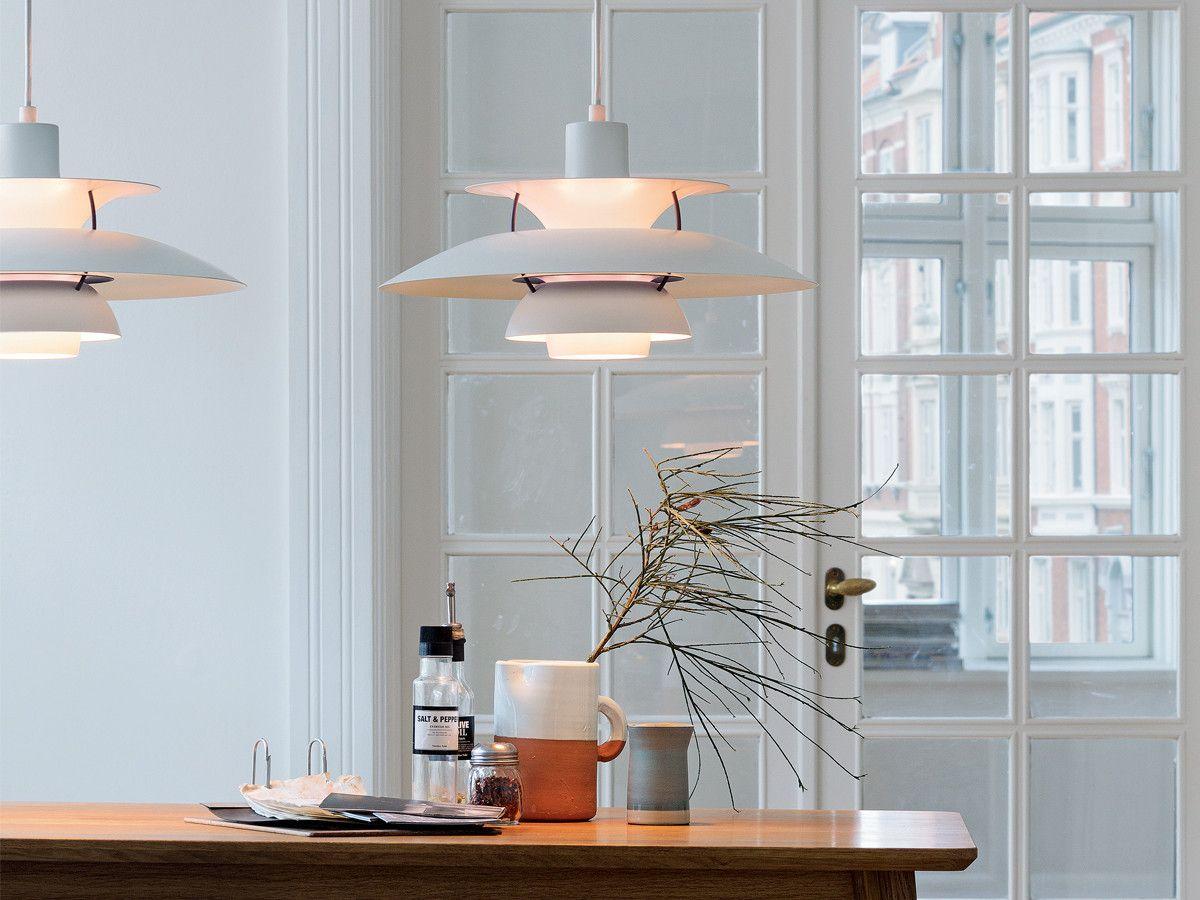 design classic lighting. Louis Poulsen PH 5 Pendant Light Classic White Design Lighting