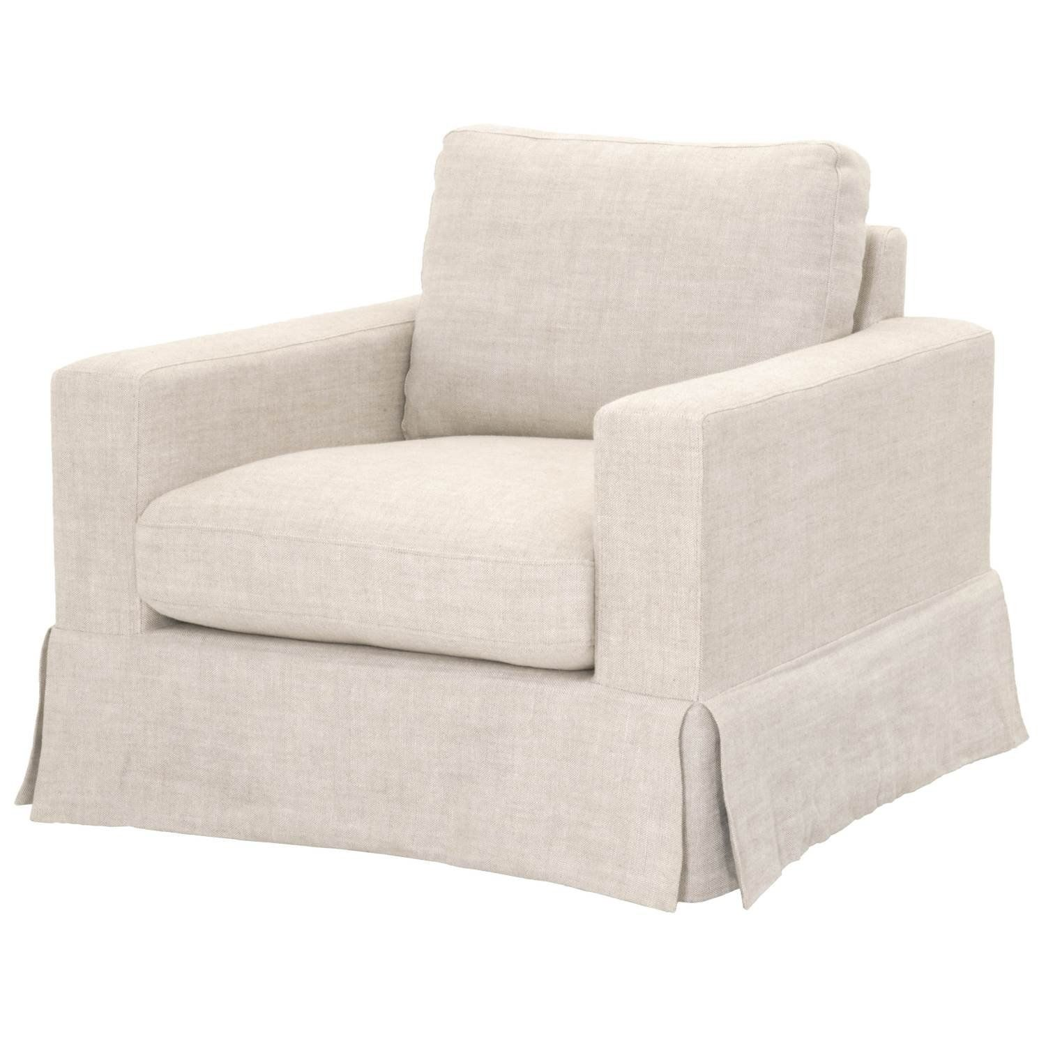 Blu Home Maxwell Sofa Chair Bisque French Linen In 2020 Sofa Chair Chair Sofa Styling