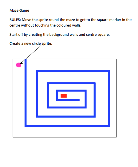 tips on how to make a maze on scrach