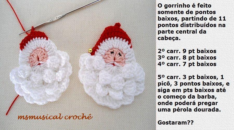 As Receitas de Crochê: Papai Noel DE CROCHE | Christmas Crochet ...