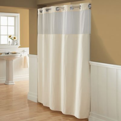 Hookless Waffle 72 X 98 Fabric Shower Curtain In Cream
