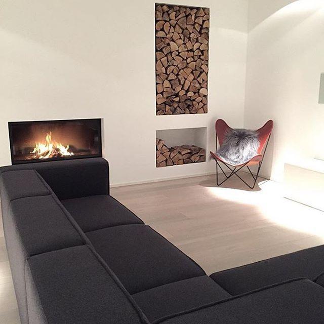 @_____feliciau0027s Brand New Carmo Sofa In Dark Grey Felt Looks Perfect In Her  Cosy Living