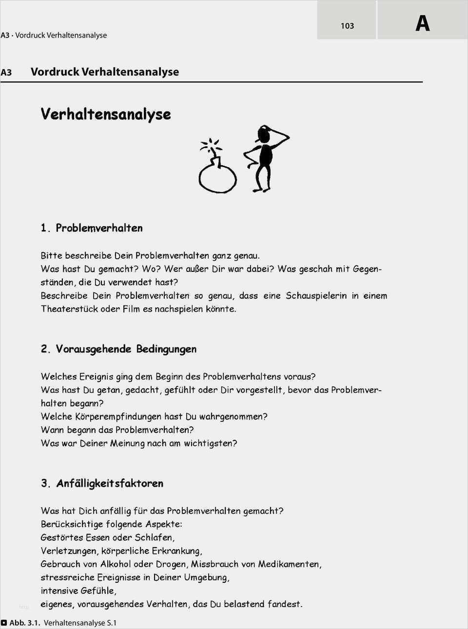 Suss Verhaltensanalyse Dbt Vorlage Abbildung