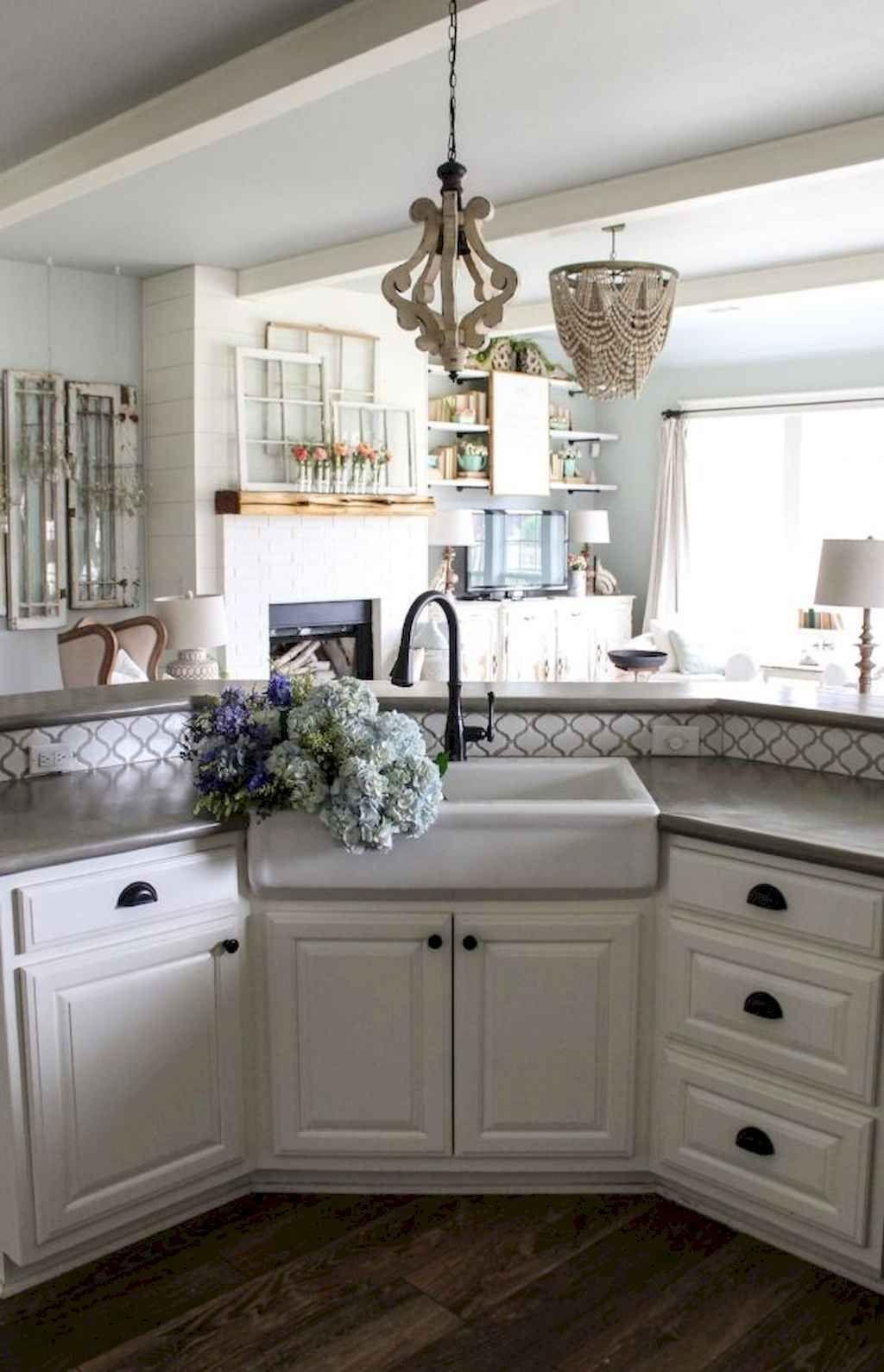 70 Modern Farmhouse Kitchen Sink Decor Ideas Diy kitchen