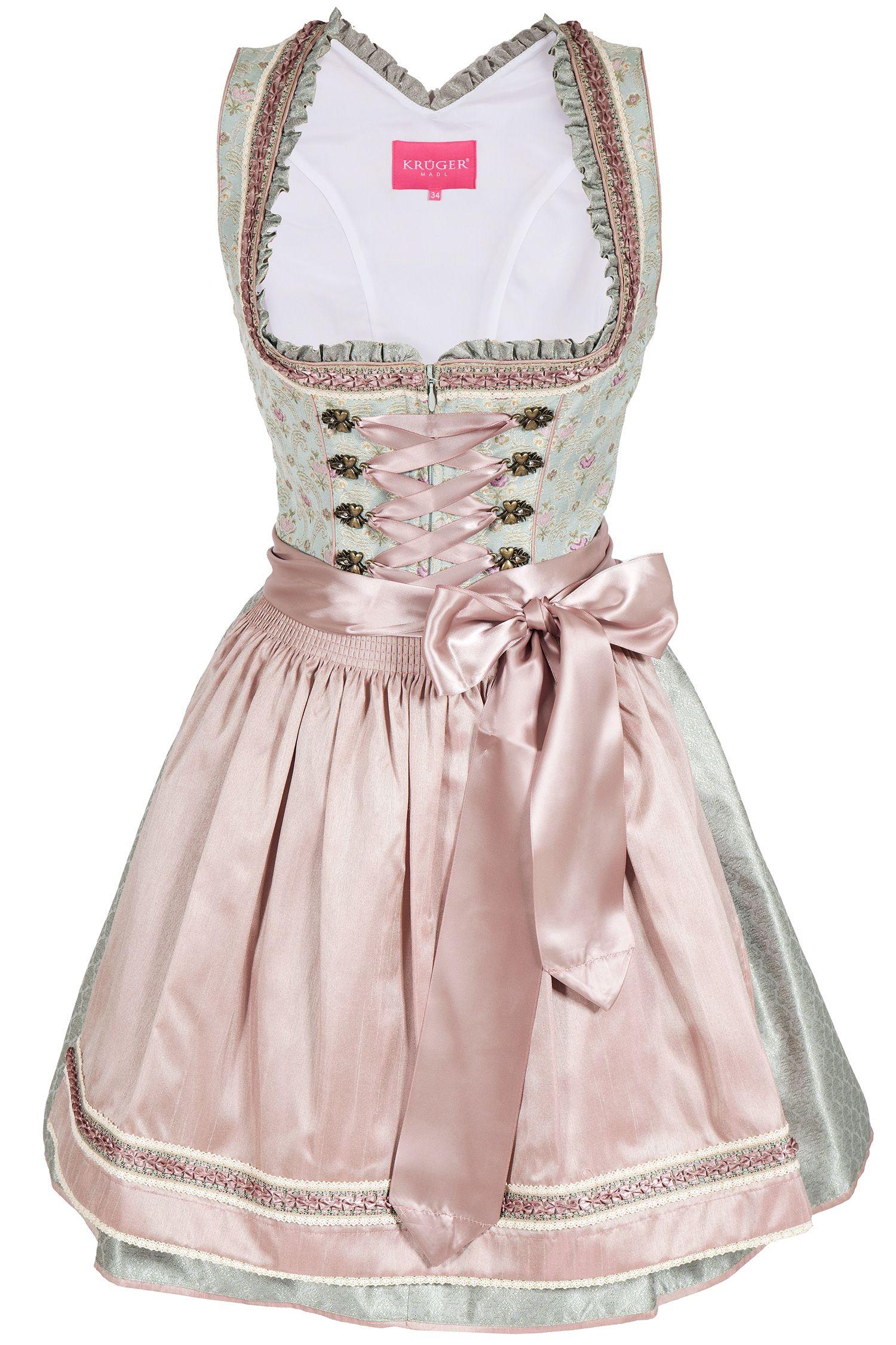 Mini Dirndl In Mint Und Altrosa Im Vintage Stil 50 Cm Dirndl Kurze Dirndl Outfit