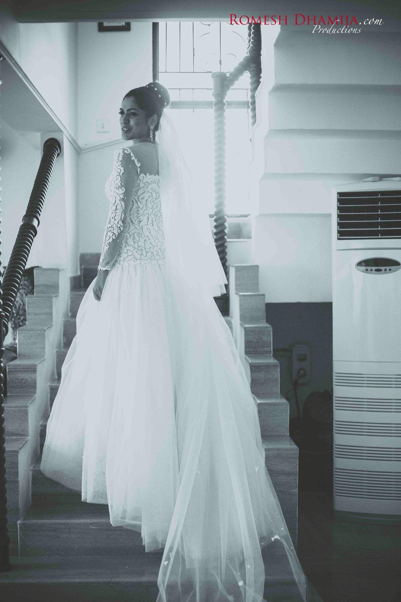 Nisha | Wedding Gown | White wedding | Wendell Rodricks Gown | Goa ...
