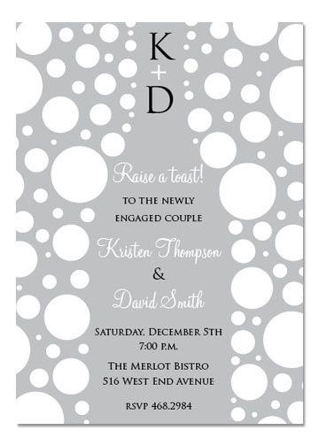 Cocktail Party Invitations, Bubbles Champagne, 28173 Invitations