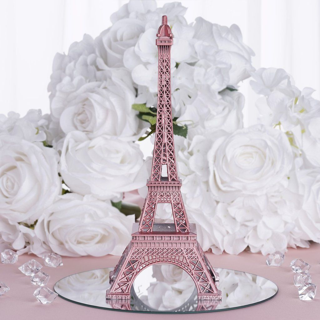 "Paris Themed Wedding Reception Ideas: 10"" Eiffel Tower Rose Gold"