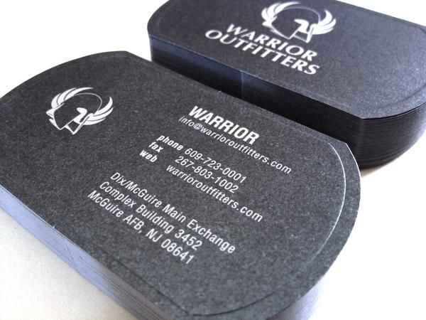 Warrior Outers Dog Tag Business Card