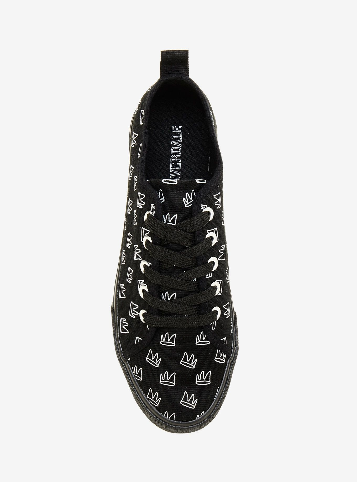 3326a3876345c Riverdale Jughead Crown Print Lace-Up Sneakers Hot Topic Exclusive ...