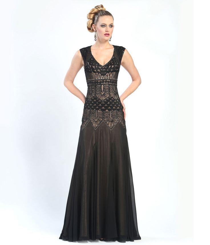 Long black backless evening dress ukuran