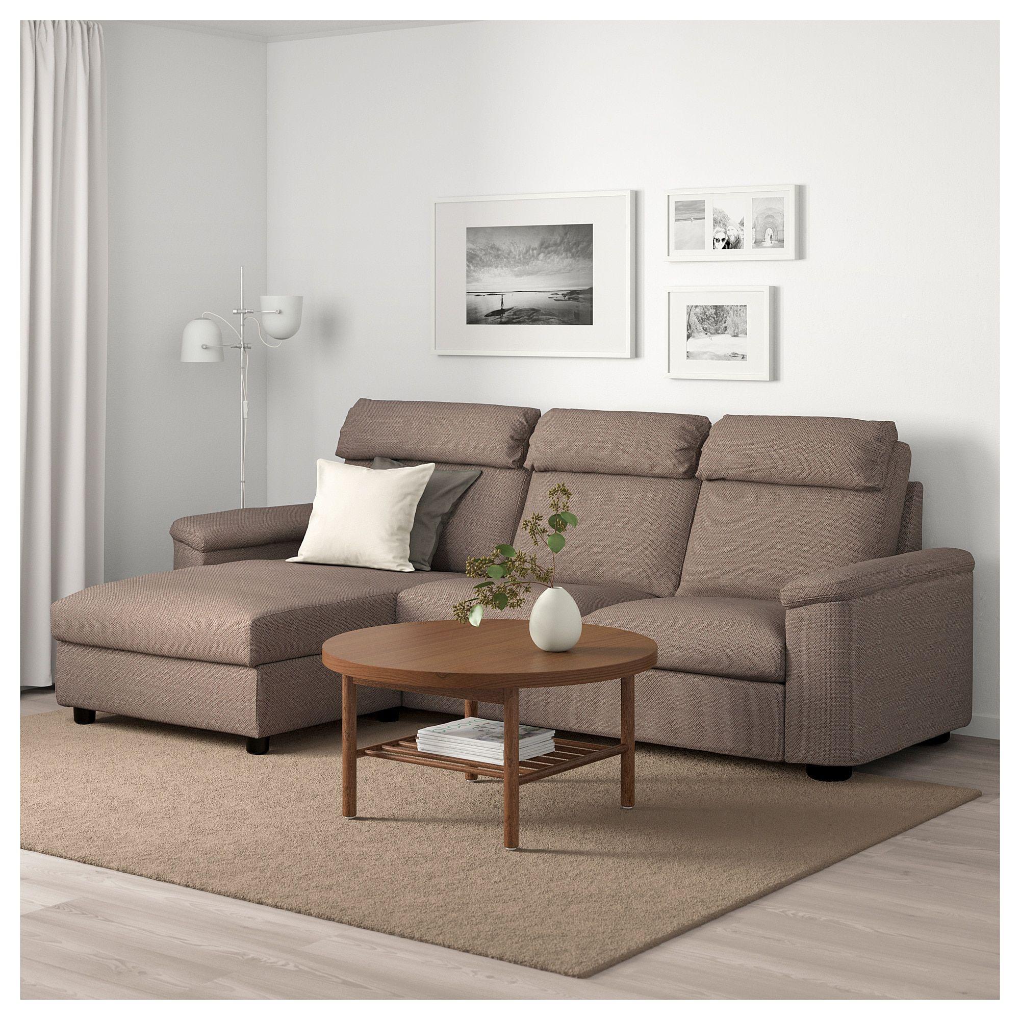 Lidhult Sofa With Chaise Lejde Beige Brown Ikea Sofa Bed Design Sofa Ikea Sofa