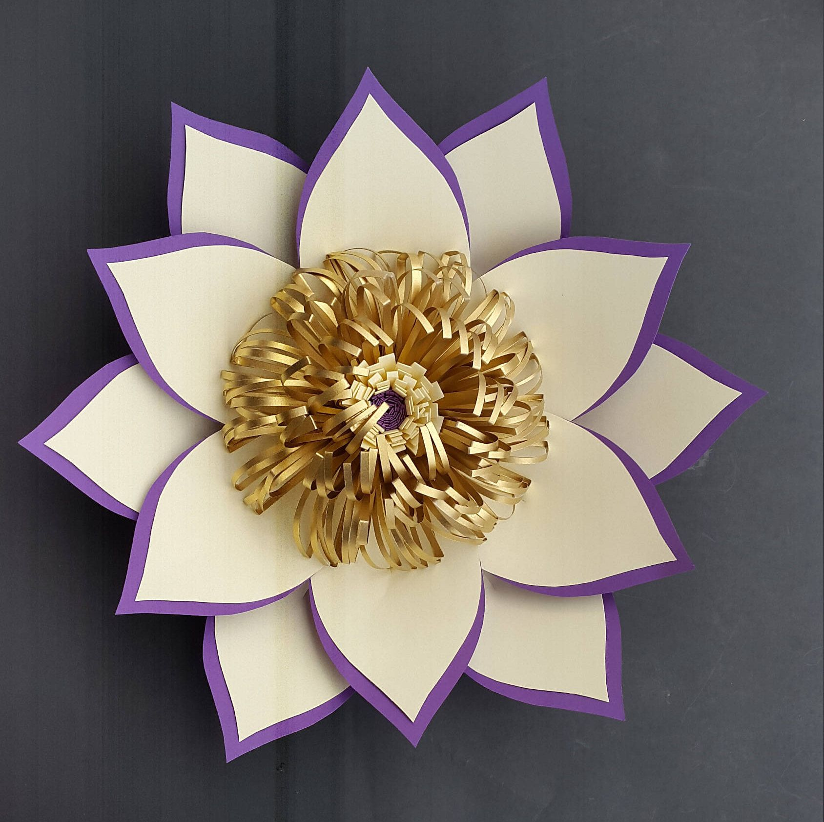 Paper Flower Diy Templates Only Without Instructions Paper Flower