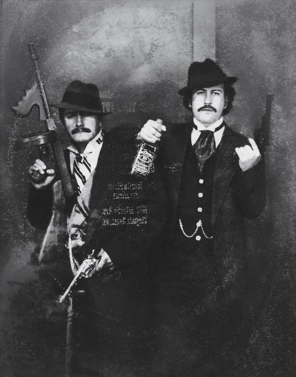 Pablo Escobar And His Cousin Gustavo Gaviria Posing As Old