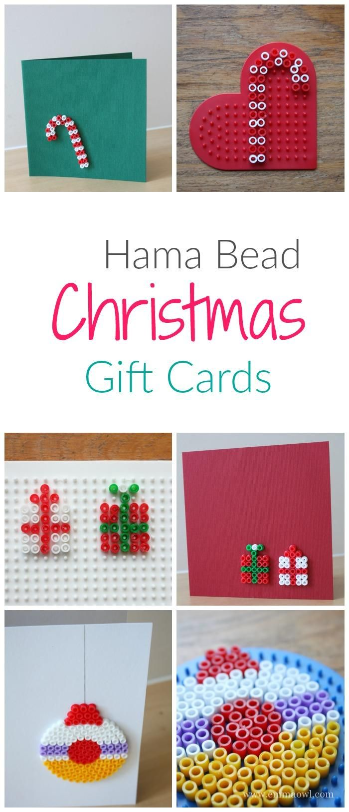 Easy to make diy christmas greeting cards great hama bead craft easy to make diy christmas greeting cards great hama bead craft project for kids and adults m4hsunfo