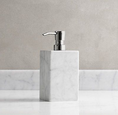 restoration hardware carrara marble soap dispenser liquid soapbath accessoriesbathroom