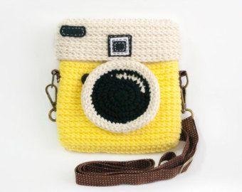 Bolso de cámara Degancrono Lomo / Pastel Color Rosa #camerapurse