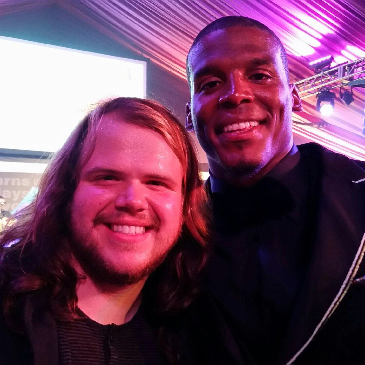 Had the honor of meeting him last night @CameronNewton thx for an inspiring evening @Panthers #