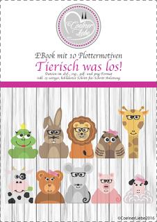 """Das ist mein erstes EBook """"Tierisch was los"""". 10 Tierchen - Männlein und Weiblein möchten mit Brillen, Schleifen, und Krawatten in Szene gesetzt werden."""