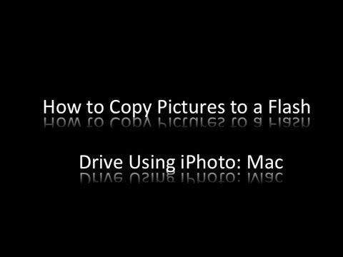 This Is A How To Video Explaining How To Copy Pictures From Your Iphoto Library To A Usb Flash Drive Or Any External Storage O Digital Pics Mac Flash Drive