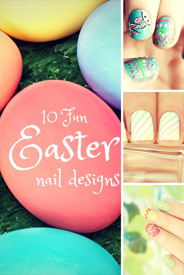 Fun Easter nail art designs suitable for tweens and teens