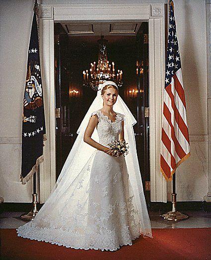 Vintage Wedding Dresses Boston: Tricia Nixon Cross-hall-1971-bride In 2019
