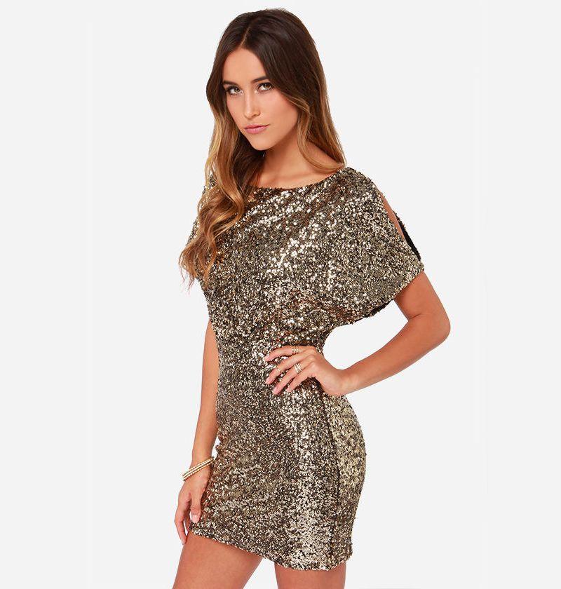 купить короткое платье с пайетками