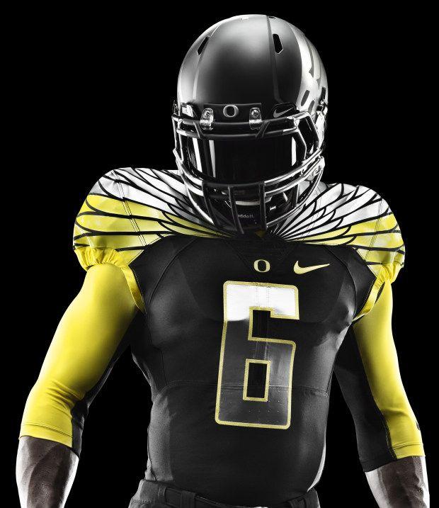 06a891f0b8e Oregon Ducks Black and Yellow Nike Mach Speed Uniform | Uniform ...