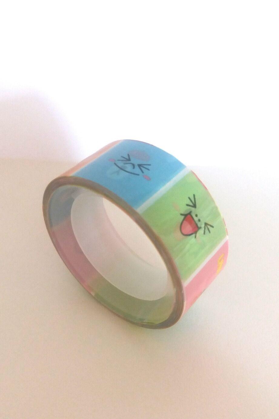 Ruban adhésif kawaii nounours emoticônes Line : Masking tape par mipouni81