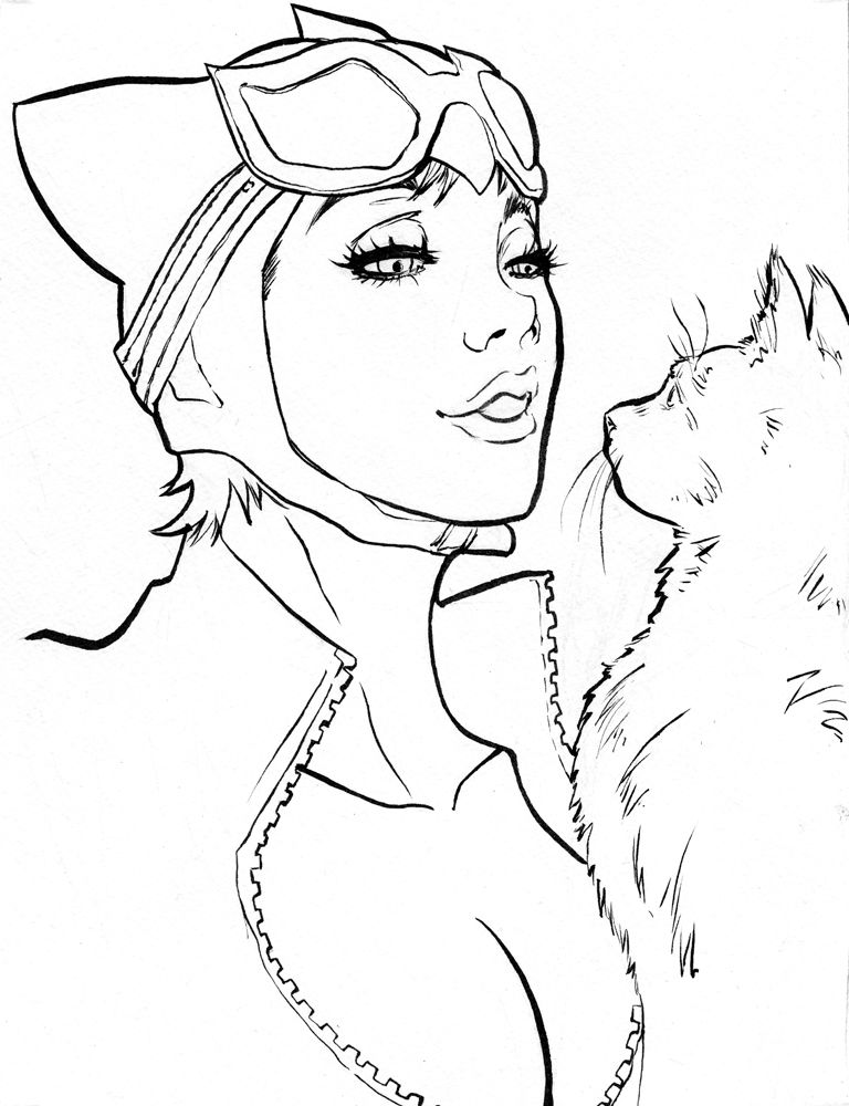 Catwoman By Dre0083 Deviantart Com On Deviantart Mulher Gato