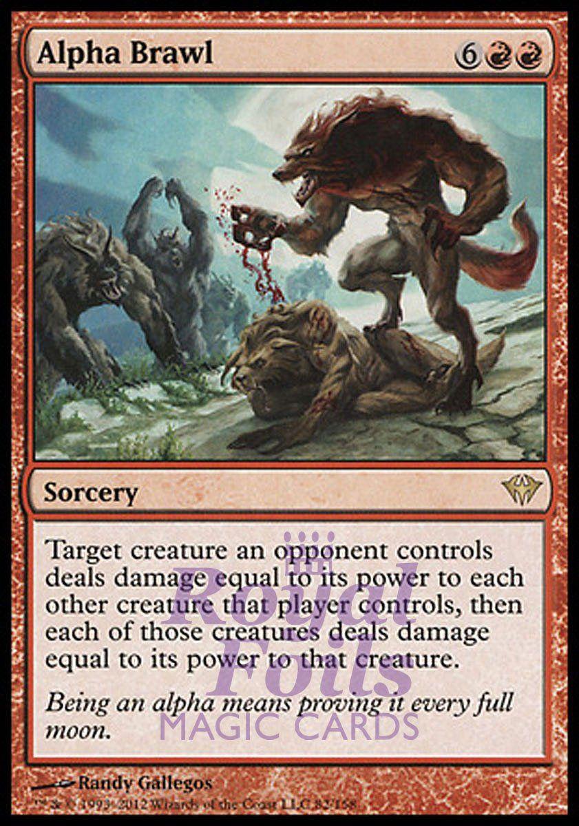 1x foil alpha brawl dka mtg dark ascension rare mint red