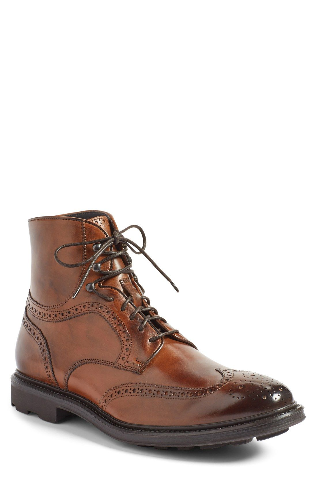 To Boot New York Hobson Wingtip Boots Brown Men