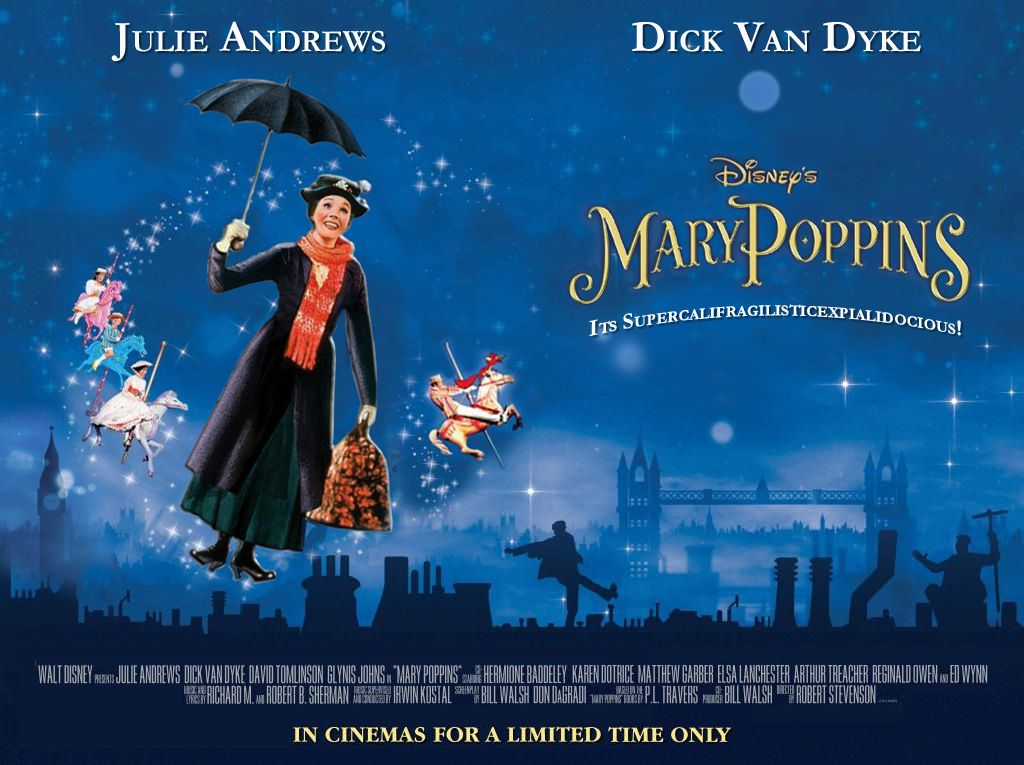 This is my improved 50th anniversary quad poster for mary poppins