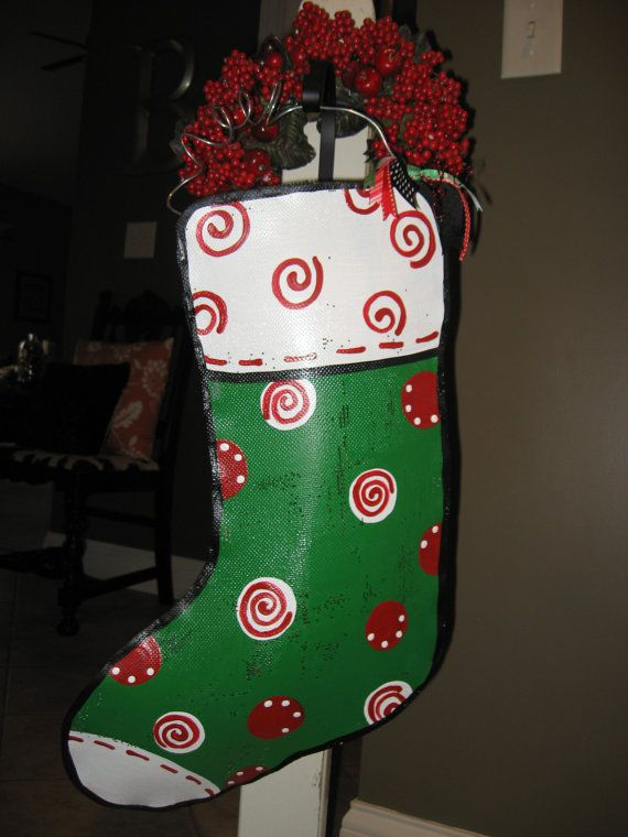 Small Stocking Door Hanging by abossard on Etsy, $28.00