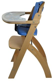 Abiie Beyond Junior wooden Adjustable High Chair - Blueberry