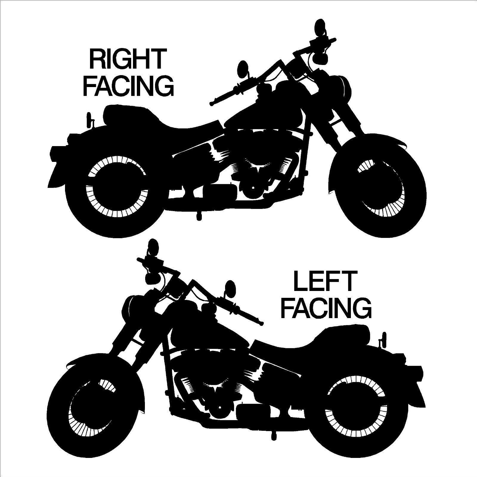 Harley davidson motorbike chopper vinyl wall art sticker decal ebay