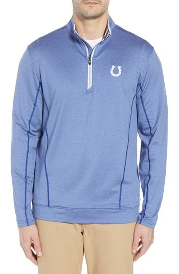 New Cutter Buck Endurance Indianapolis Colts Regular Fit Pullover