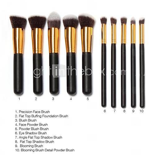 313d85544bea2 EUR € 14.99 - 10 Pcs Pincéis de maquiagem profissional definida Tubo Ouro  Pincéis de maquiagem Kit Desenho Livre Cadeia Makeup Bag, Frete Grátis em  Todos os ...