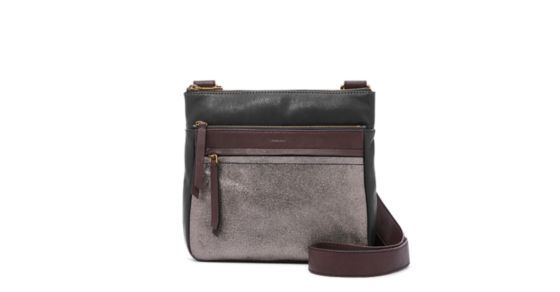 Hands free. Pockets aplenty. Our Corey crossbody is all zipped up and ready to go (go, go) in a metallic leather colorblock with an adjustable strap. *Will be shipped separately from other products