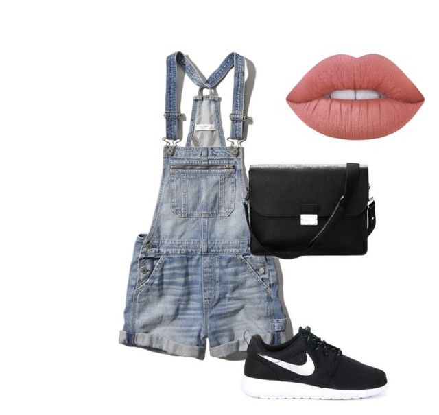 Untitled #5 by leilaniconklin on Polyvore featuring polyvore, fashion, style, Abercrombie & Fitch, NIKE, Aspinal of London, Lime Crime and clothing