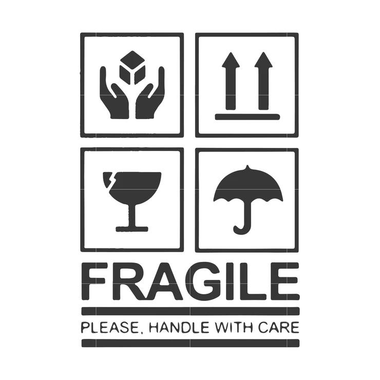 Fragile Please Handle With Care Svg Dxf Eps Png Digital File Desain Logo Desain Kaos