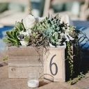 Maybe not for your wedding but still cute! Sodo Park Wedding (modern rustic centerpieces decor) - Lover.ly