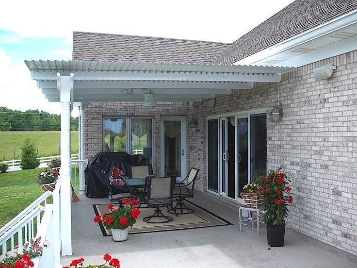 Louvered roof Pergola, Backyard pavilion, Pergola patio