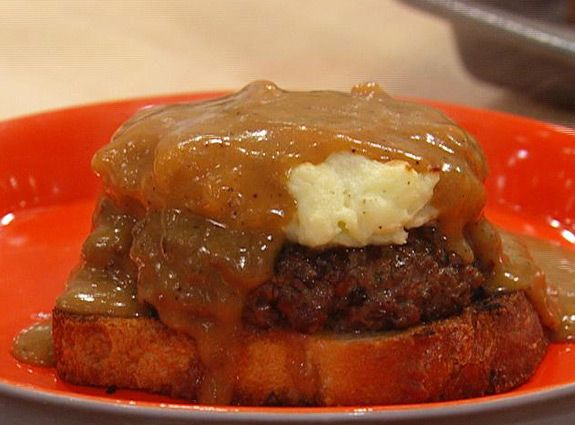 Shepherds Pie Knife-and-Fork Burger! Thank you Rachael Ray