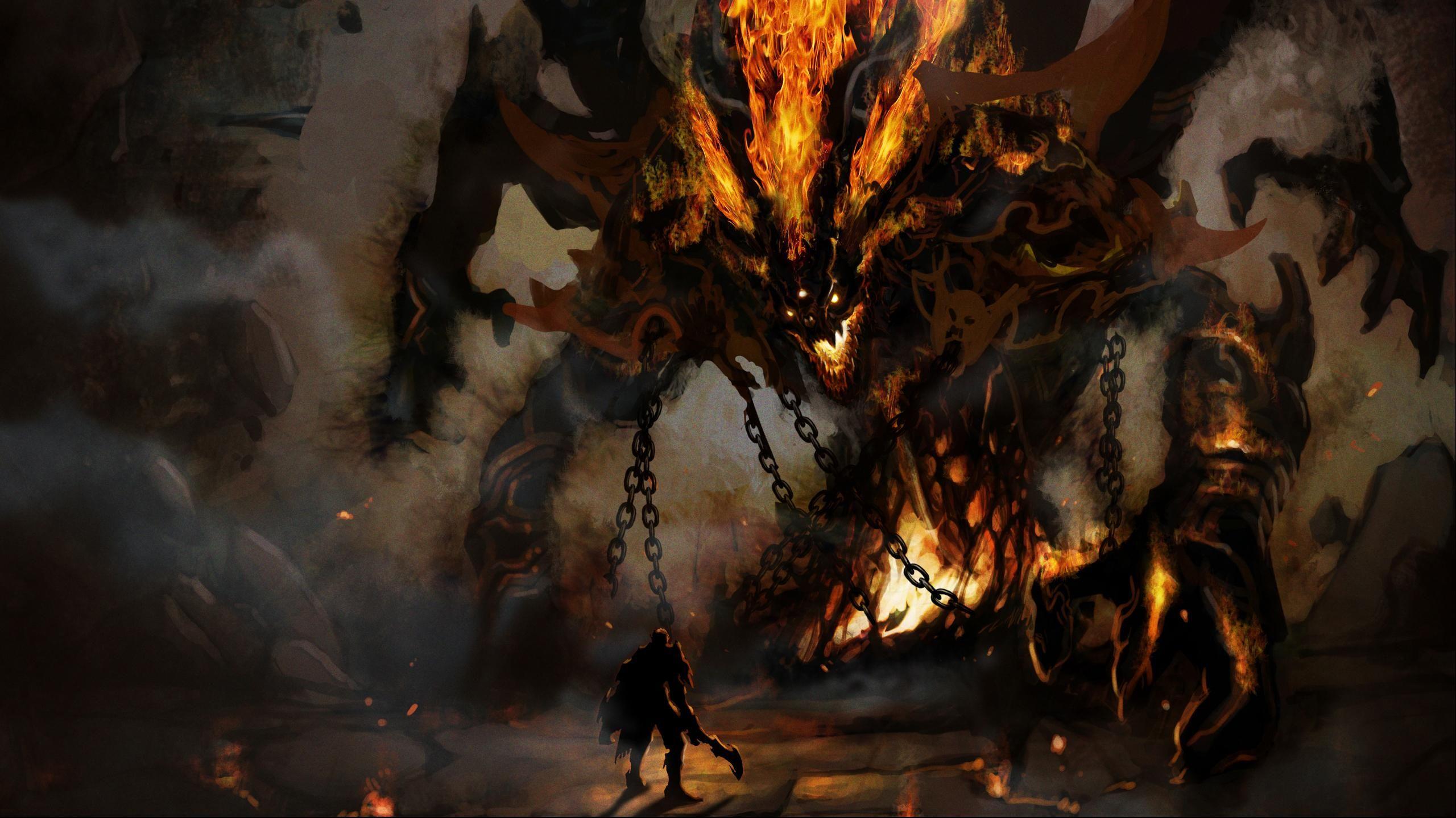 Giant Monster Wallpaper En 2019 Monstruo De Fantasía